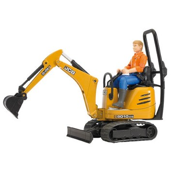 Bruder JCB Micro Excavator 8010 CTS & Construction Worker Toy 1:16