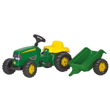 Rolly Kid John Deere Pedal Ride-On Tractor & Trailer