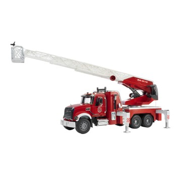 Bruder Mack Granite Fire Engine with Slewing Ladder and Water Pump 1:16