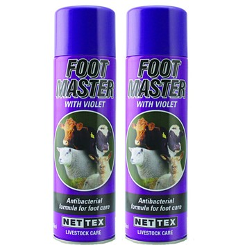 NETTEX Foot Master with Violet Aerosol - 500ml Can Multibuy