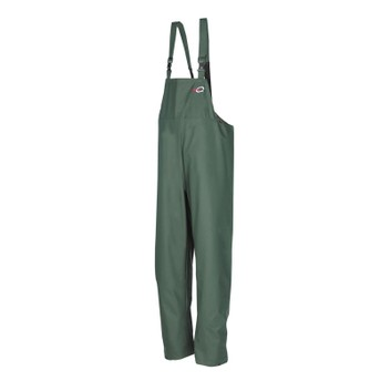 Flexothane Classic Louisiana Waterproof Bib and Brace Trousers in Olive Green