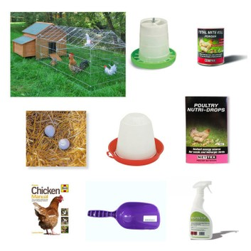 Tanner Trading Chicken Poultry Starter Kit (With Chicken Run)