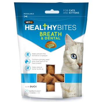 VetIQ Healthy Bites Breath & Dental for Cats & Kittens - 65 GM