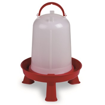 Gaun Chicken Drinker Eco with Legs Red