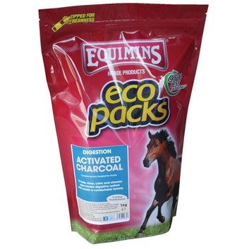 Equimins Activated Charcoal - 1 KG ECO PACK