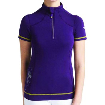 Tottie Polo Shirt Maven Zipped Blackberry