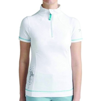 Tottie Polo Shirt Maven Zipped White