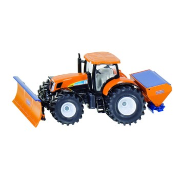 Siku Tractor with Snow Plough and Salt Spreader 1:50
