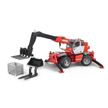 Bruder Manitou Telescopic Forklift MRT 2150 with Accessories 1:16