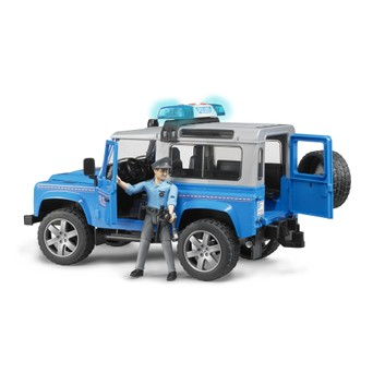 Bruder Land Rover Defender Police Vehicle and Policeman 1:16