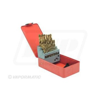 29 Piece Titanium Coated Drill Bit Set 1/16-1/2""