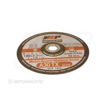 10 x 180mm Dished Metal Cutting Discs