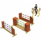 Kidsglobe Set of 3 horse jumps (3x) 1:24