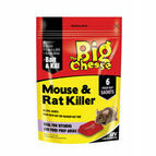 The Big Cheese Mouse & Rat Killer Plus Bait Trays - 6 Sachet