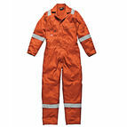 Dickies Hi-Vis Stripe Coverall - Orange