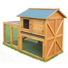Outdoor Small Animal Hutch & Poultry Chicken Coop