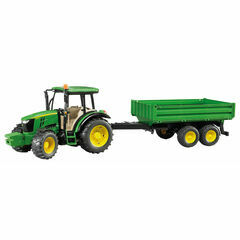 Bruder John Deere 5115M with tipping trailer 1:16