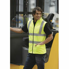 Yoko Hi Vis Reversible Fleece Vest - Yellow