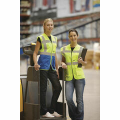 Yoko Hi Vis Executive Waistcoat - Yellow/Royal Blue