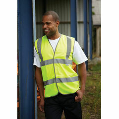 Dickies Highway Hi Vis Safety Waistcoat - Yellow
