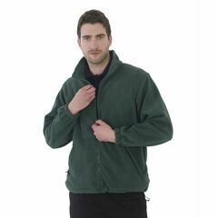 Ultimate Clothing Collection Full Zip Polar Fleece - Bottle Green