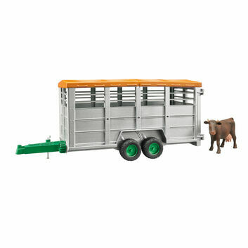 Bruder Livestock trailer with 1 cow 1:16