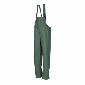 Flexothane Classic Louisiana Waterproof Bib & Brace Trousers Olive Green