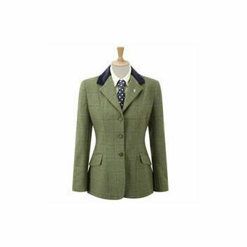 Caldene Competition Jacket Silverdale Tweed Girls Green Check