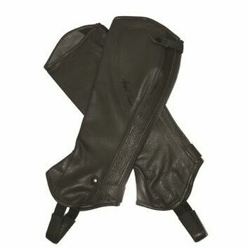 Mark Todd Half Chaps Close Fit Soft Leather Standard Black