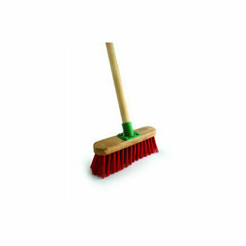 Bentley Red PVC Varnished Broom - 4'6