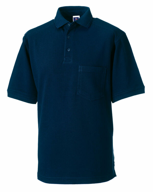 Russell men 39 s heavy duty polo shirt french navy from for Heavy duty work t shirts