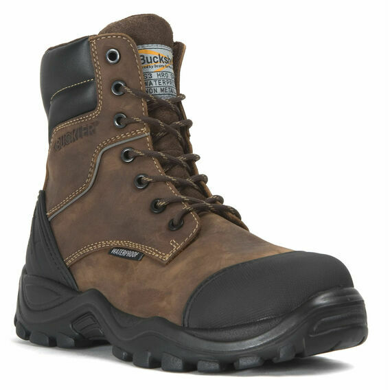 Buckler BSH008WPNM Buckshot Dark Brown Lace/Zip Safety Boots