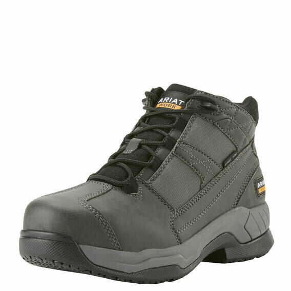 Ariat Contender Steel Toe Charcoal Suede Safety Work Boot