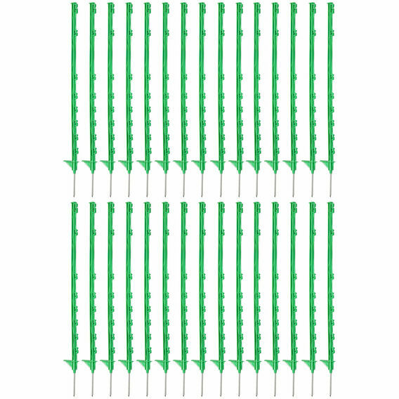 30 x 105cm Hotline Green CP2000G Multiwire Electric Fence Posts