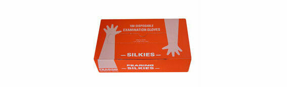 100 x Fearings Disposable Gloves Shoulder Length Silkies